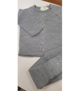Conj. Jersey y polaina, color gris medio.