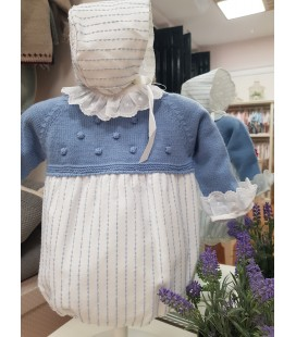 Pelele de bebé con capota, Micolino Colec. Inv20