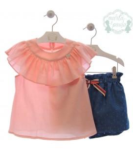 Conjunto de blusa y pantalón corto, colección Botero.